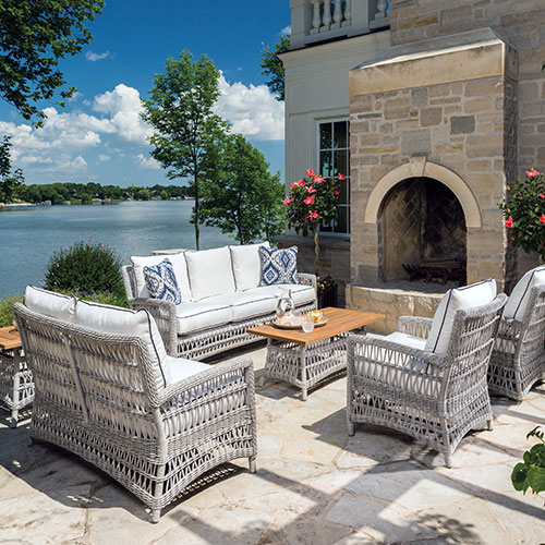 Woven Vinyl. Lloyd Flanders   Premium outdoor furniture in all weather wicker