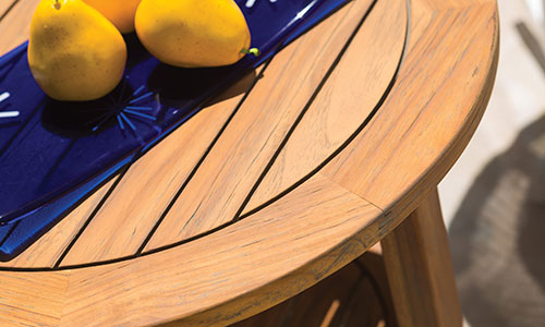 Sustainably-grown and -harvested FSC-certified Brazilian teak furniture