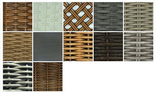 Woven vinyl finishes